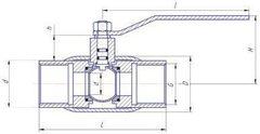 Конструкция LD КШ.Ц.М.GAS.025.040.Н/П.02 Ду25
