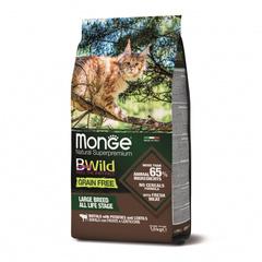 Monge Cat BWild Grain Free Сухой беззерновой корм для крупных кошек всех возрастов из мяса буйвола