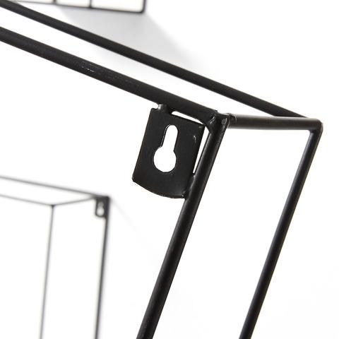 Набор из 3 настенных полок Neth металлический черный