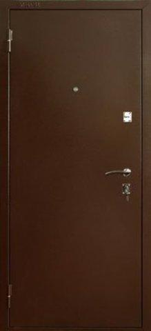 Дверь входная ДС-150 стальная, миланский орех, 2 замка, фабрика Меги