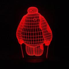 3D светильник с пультом Город героев Беймакс