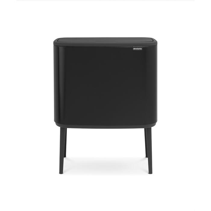 Мусорный бак Touch Bin Bo (3 х 11 л), Черный матовый, арт. 316067 - фото 1
