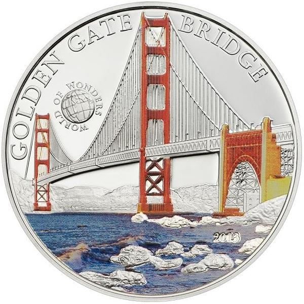 5 долларов. Мост Золотые Ворота. Палау. 2013 год