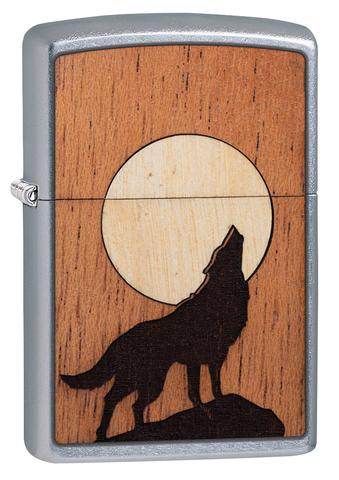 Зажигалка WOODCHUCK USA Howling Wolf ZIPPO 49043