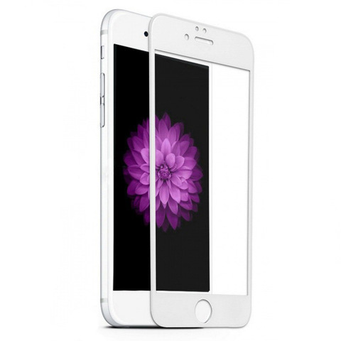 Защитное 3D-стекло PremiumGlass для iPhone 6/6S Plus White - Белое