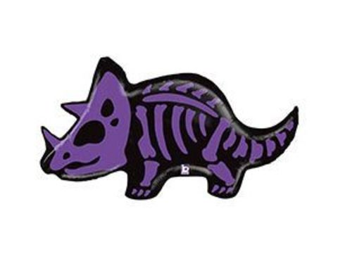 Фольгированный шар Динозавр Трицератопс фиолетовый