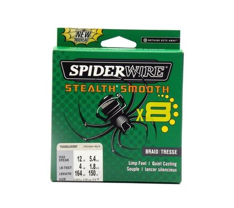 Плетеная леска Spiderwire Stealth Smooth 8 Полупрозрачная 150 м. 0,06 мм. 5,4 кг. (1515647)