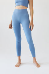 Безшовні легінси синього кольору