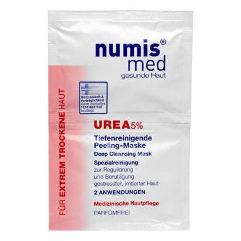 Глубоко очищающая маска для лица с 5 % мочевиной Numis Med, двойное саше по 8 мл
