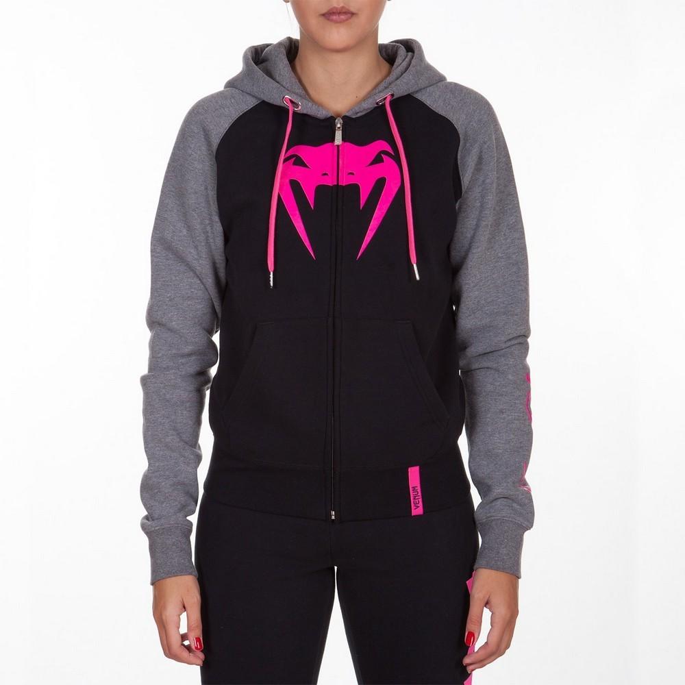 Женские толстовки Толстовка женская Venum Infinity Hoody with zip Black/Grey For Women 1.jpg