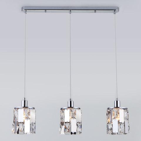 Подвесной светильник с хрусталем 50101/3 хром