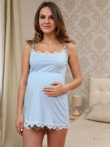 ФЭСТ, Hunny Mammy. Пижама для беременных и кормящих с кружевом, голубой