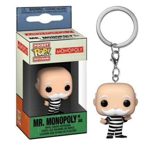 Mr. Monopoly in jail Funko Pop! Keychain || Мистер Монополия в тюрьме (брелок)