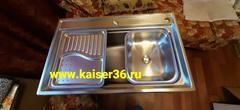Кухонная мойка врезная из нержавеющей стали Kaiser KSM-7848 780x480x220 фото покупателя