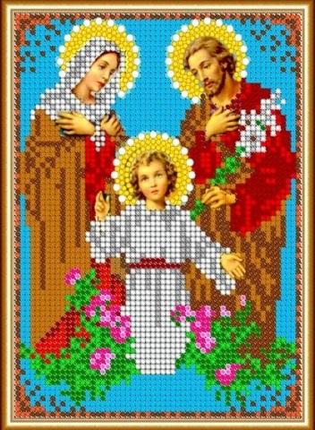 Алмазная Мозаика 28x22 Икона Святая Семья (арт. MN20903)