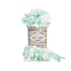 Пряжа Alize Puffy Color цвет 6341