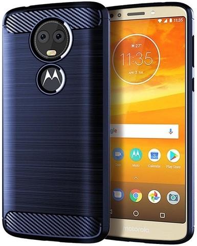 Чехол Motorola Moto E5 Plus (E5 Supra) цвет Blue (синий), серия Carbon, Caseport