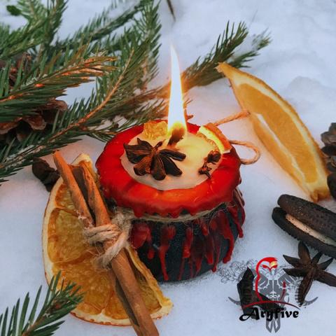 Свеча для поднятия силы «Счастливое Вино»
