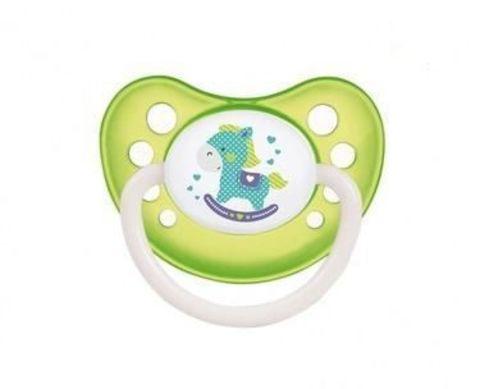 Canpol. Пустышка анатомическая Toys силикон, 0-6 мес., зеленый