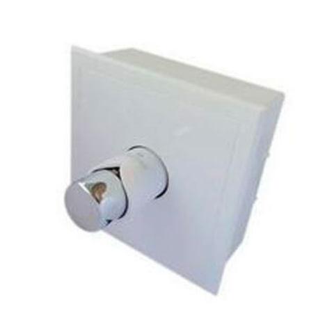 Комплект белый - хром с термостатическим клапаном G3/4