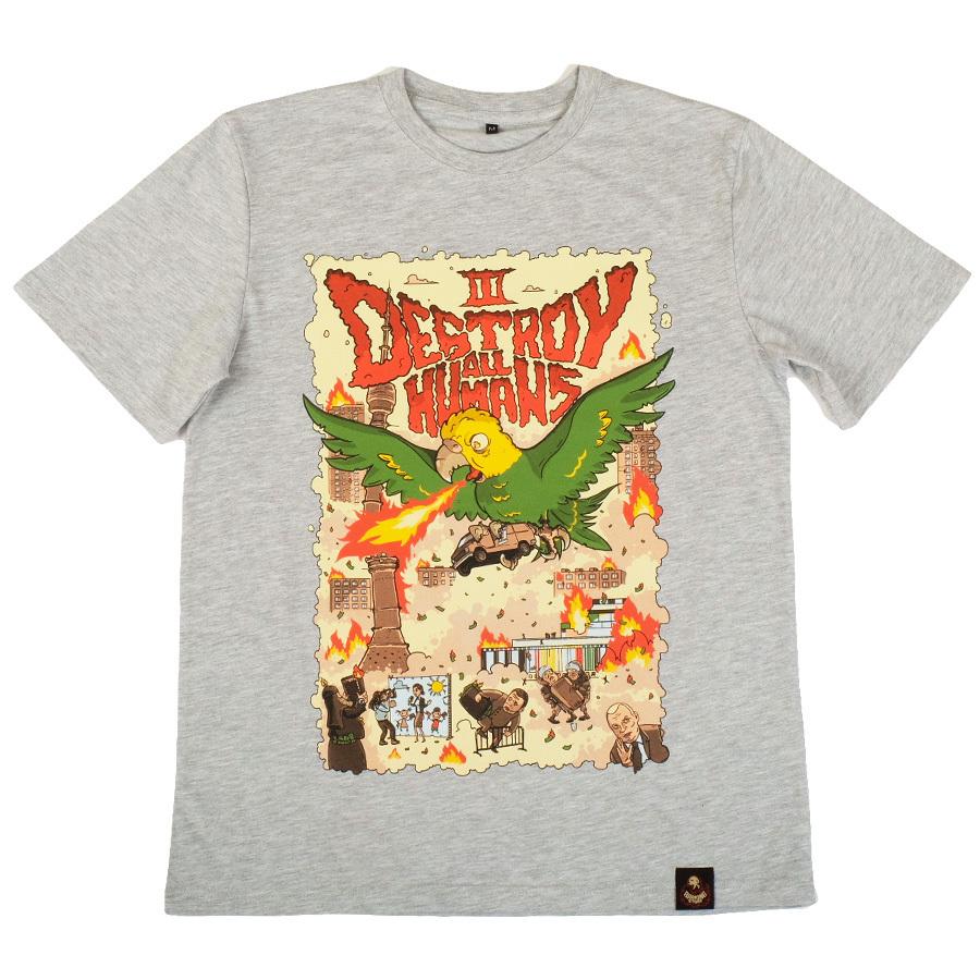 Попзилла / двусторонняя футболка