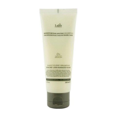 Увлажняющий шампунь для волос с растительными экстрактами   La'dor Moisture Balancing Shampoo, 100мл
