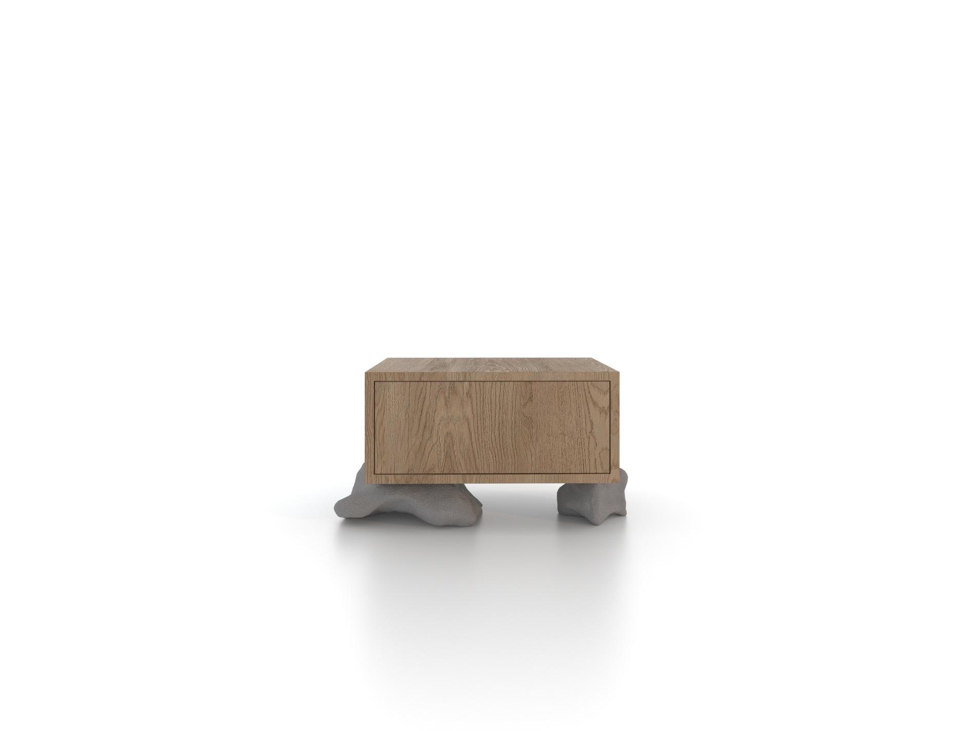 Тумба прикроватная на камнях XL