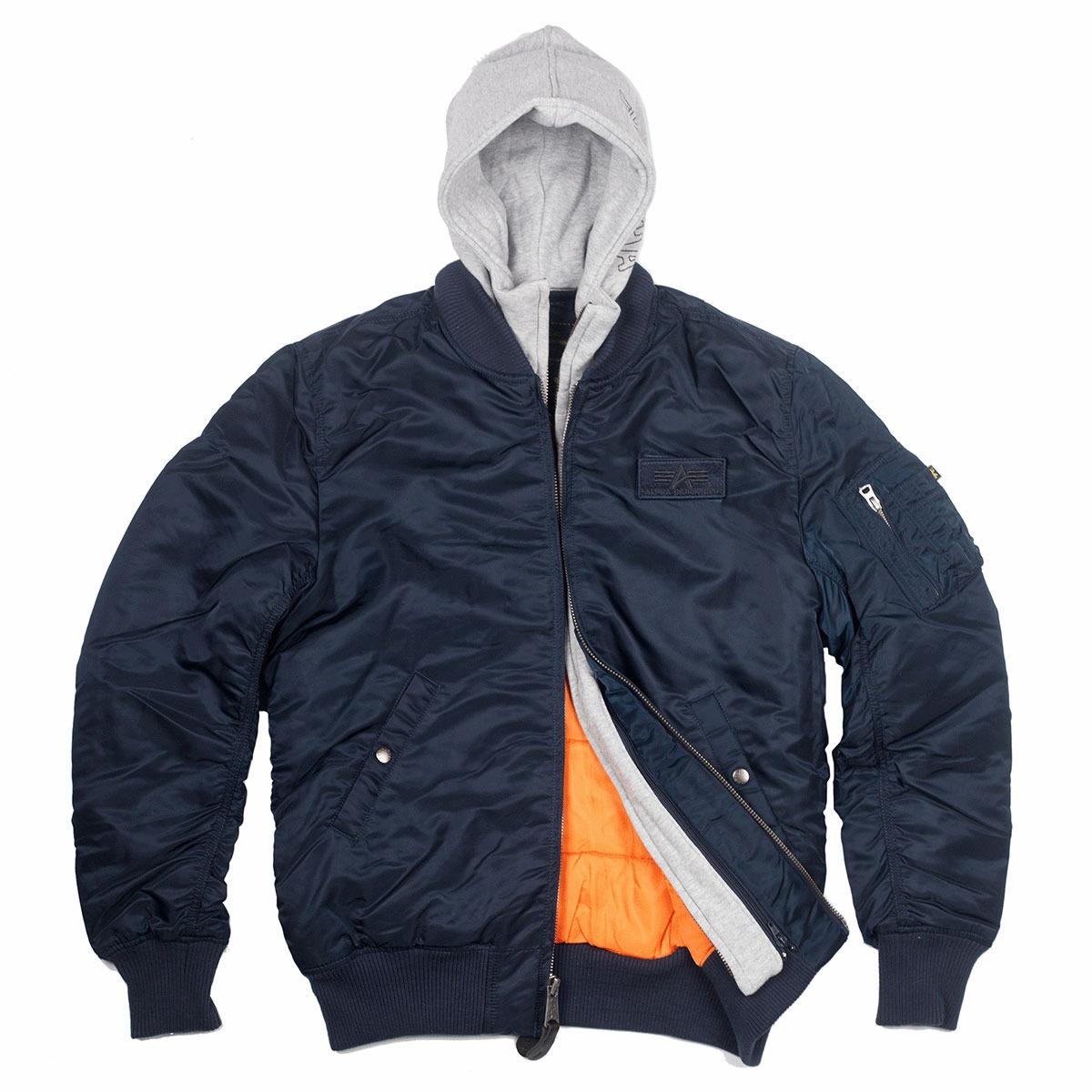 Куртка Бомбер - MA-1 D-TEC  Alpha (синяя - r.blue)