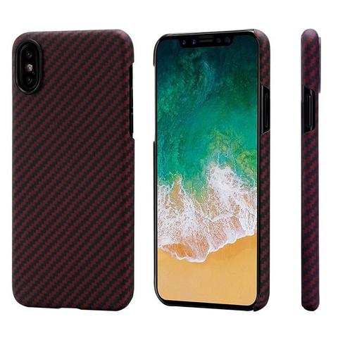 Чехол Pitaka MagCase (арамид) для Apple iPhone X (Black/Red Twill)