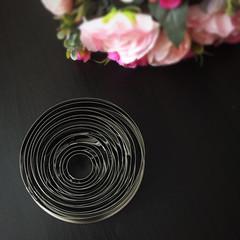 Вырубка для пряников металлическая КРУГ-КОЛЬЦО 14в1