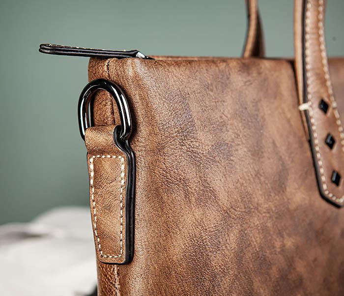 BAG510-2 Мужской кожаный портфель с ремнем на плечо фото 04