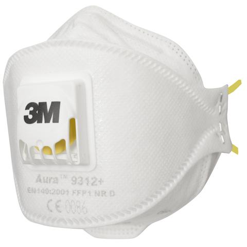 Респиратор 3М Aura™ 9312+ FFP1 (4 ПДК) с клапаном (х10х120)