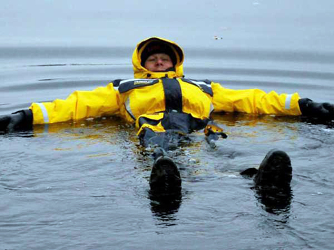 Комбинезон-поплавок желт-черн SEAFOX CROSSFLOW ONE 1pc