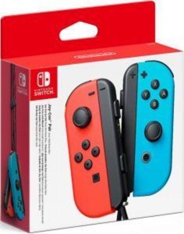 Набор контроллеров Joy-Con (Nintendo Switch, неоновый красный / неоновый синий)
