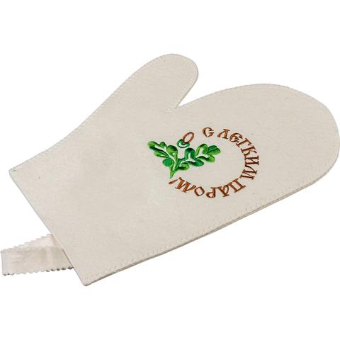 Рукавица для бани «С легким паром», войлок 100%