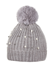 HT1811-4 шапка женская, темно-серая