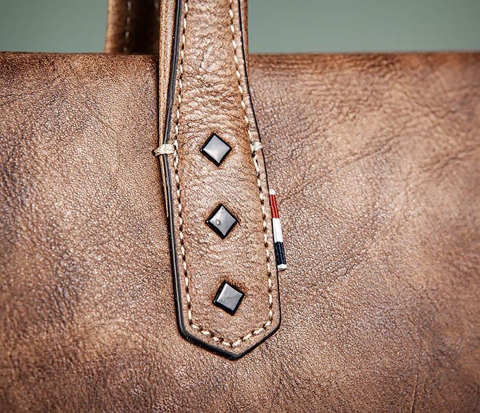BAG510-2 Мужской кожаный портфель с ремнем на плечо фото 05