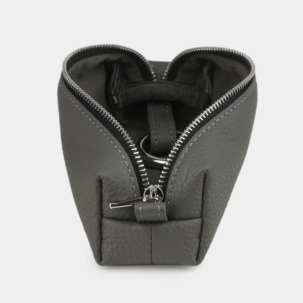 Ключница Cofre Easy из натуральной кожи теленка, серого цвета