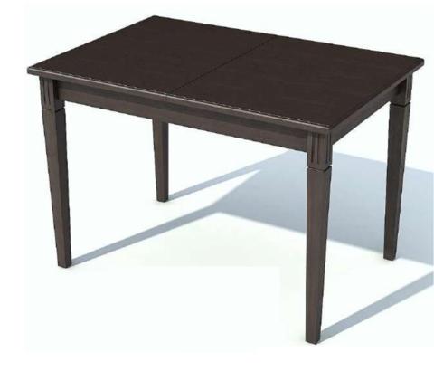 Стол обеденный Барсук деревянный прямоугольный палисандр