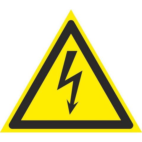 W08 Опасность поражения электрическим током (плёнка ПВХ, 100х100), упаковка 10шт
