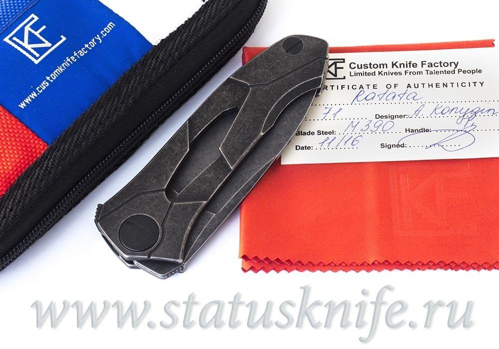 Нож Ратата Ratata CLR CKF (Коныгин, М390, титан, подшипники)