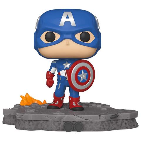 Фигурка Funko POP! Bobble: Deluxe: Avengers: Captain America (Assemble) (Exc) 45076