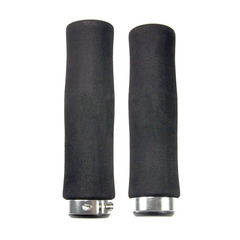 Грипсы HW 145210 L-135 (чёрно-серебристый)