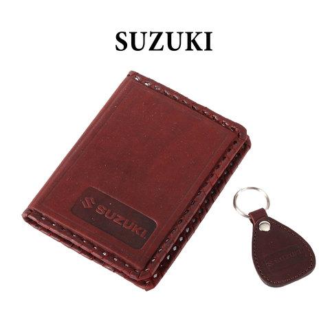 Обложка для водительского удостоверения с брелком «SUZUKI»
