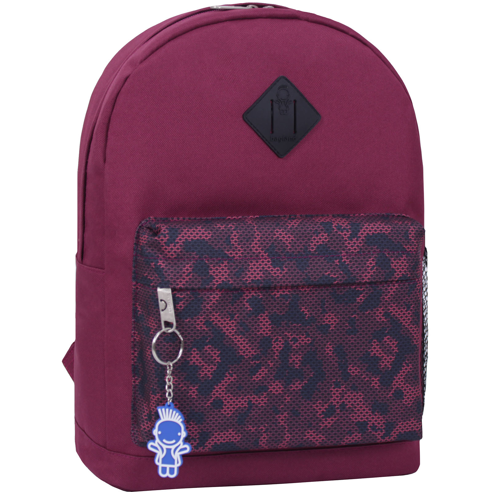 Городские рюкзаки Рюкзак Bagland Молодежный W/R 17 л. вишня 466 (00533662) IMG_2239_суб.466_.JPG
