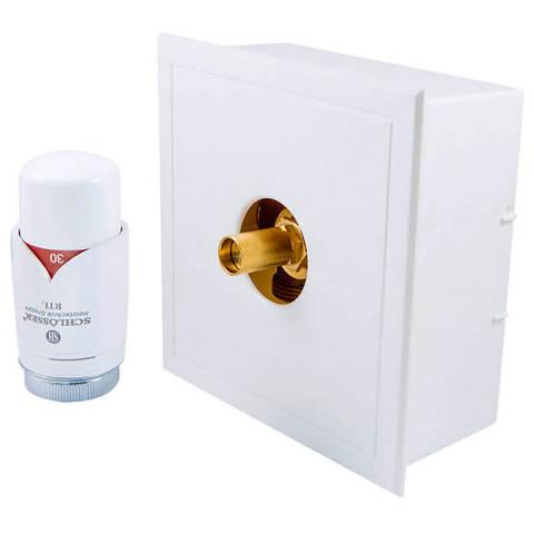 Комплект белый с термостатической головкой RTL G3/4