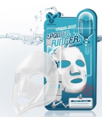 Elizavecca Тканевая маска для лица УВЛАЖНЕНИЕ Elizavecca Aqua Deep Power Ringer Mask Pack,23 мл.