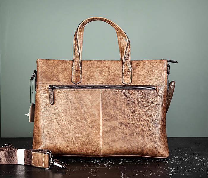 BAG510-2 Мужской кожаный портфель с ремнем на плечо фото 07