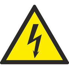 W08 Опасность поражения электрическим током (плёнка ПВХ, 150х150), упаковка 10шт