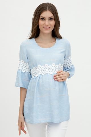Блузка для беременных 09583 светло-голубой